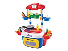 On The Go Carrier Toy Kitchen Set (30-Piece Set)