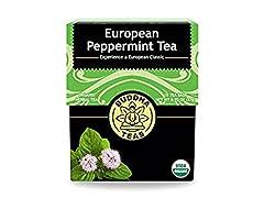 Buddha Teas Organic European Peppermint.