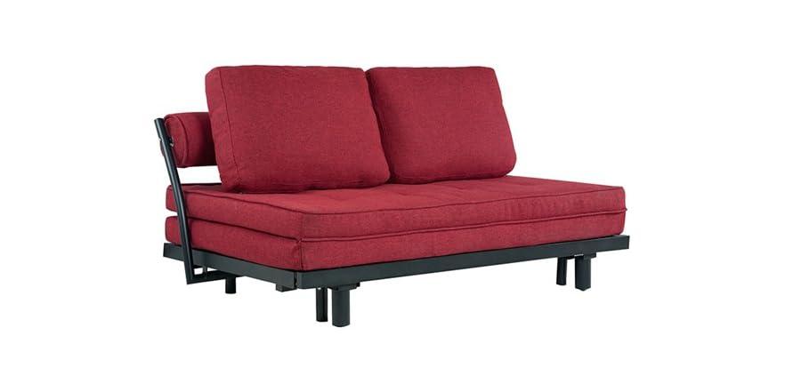 basilica convertible euro sofa red. Black Bedroom Furniture Sets. Home Design Ideas