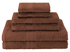 100% Ringspun Cotton 6-Piece Towel Set