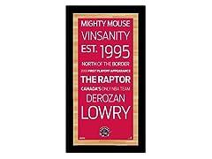 "Toronto Raptors 9.5"" x 19"" Sign"