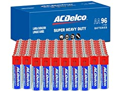 ACDelco AA or AAA 96-Pack Heavy Duty Batteries
