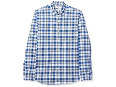 Blue Plaid, XXX-Large Tall Men's Shirt