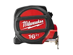 MILWAUKEE ELEC TOOL 48-22-5116 Magnet Tape Measure, 16'