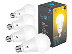 TriGlow LED Dimmable 100W, 4pk