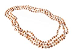 Pink Mix Freshwater Pearl Necklace, 64""