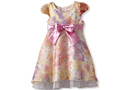 Printed Dress With Bow (Sizes 2T-4T)