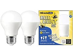 Miracle LED Yellow Bug Light MAX, 2 Pack