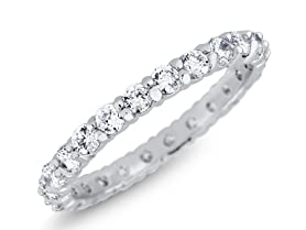 Cubic Zirocnia Eternity Thin Band