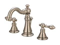 Widespread Faucet with Pop-up, Nickel