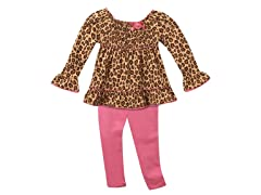 Tunic & Leggings Set - Leopard (4T)