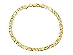 14K Gold Cuban Chain Men Bracelet