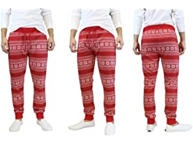 Men's Holiday Inspired Ugly Jogger Pants
