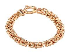 18K Rose Gold Byzantine Bracelet