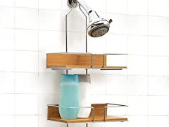 Vanderbilt Over the Head 3 Tier Bamboo Shower Caddy