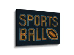 """Retro Sports Ball"" Canvas"