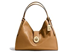 Coach Madison Carlyle Leather Shoulder Bag, Light Gold/Brown