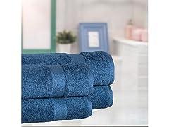 100% Cotton 4PC Zero Twist Bath Sheets
