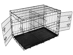 Compact Double Door Fold & Go Pet Crate - 5 Sizes