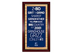 "Memphis Grizzlies 16"" x 32"" Sign"