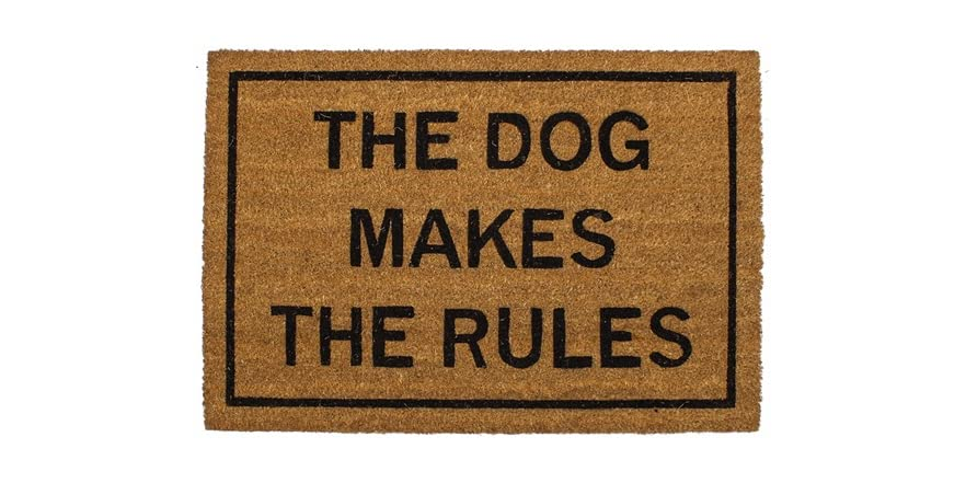 Clever doormats the dog makes the rules - Clever doormats ...