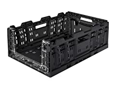 Collapsible XL Crate with Cutout Panel