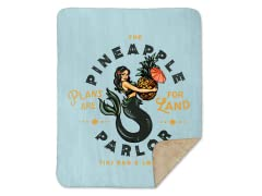 The Pineapple Parlor Sherpa Blanket