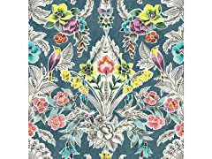 Summer Love Teal Peel & Stick Wallpaper