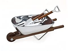 Wheelbarrow Salad Bowl & Servers