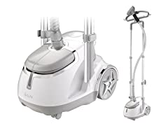 Dual Bar Garment Steamer with Foot Pedals