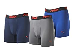 Puma Men's Tech Boxer Briefs 3-Pk -Small