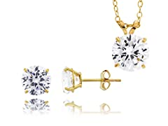 10kt Yellow Gold Earrings & Necklace Set