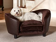 Ultra Plush Snuggle Bed Brown Basket