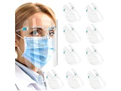 Urmax 10-Pack Face Shields with Glasses