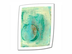 Teal Enso - 18x14 Rolled Canvas