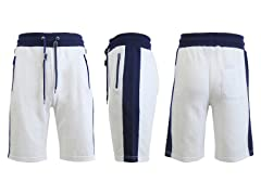 Men French Terry Shorts W Zipper Pockets