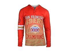 NFL San Francisco 49ers Super Bowl XXIX Champions Hoody Tee, Large