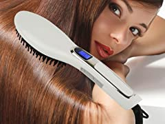 Hair Straightener Ceramic Brush