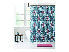 Bibb 14 Pc Shower Curtain Bath Rug Set