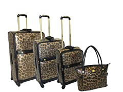 Deluxe Spinner 4 pc Set-Leopard Metallic