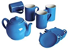 Price & Kensington 9-Piece Tea Set-Blue