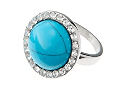 Stainless Steel & Turquoise Ring