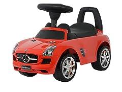 Red Mercedes SLS Push Car