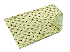 Shaggy Sage Monkey Reversible Throw