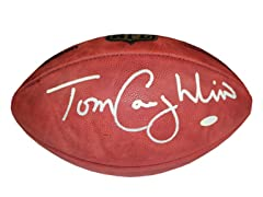 Tom Coughlin Signed Duke Football