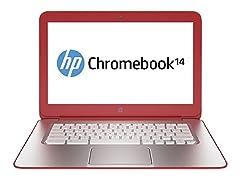 """HP 14"""" 16GB Chromebook - Peach"""