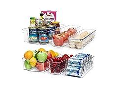 Clear Plastic Refrigerator Organizer Bins
