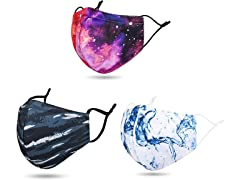 Reusable Printed Face Masks (3-Pack)
