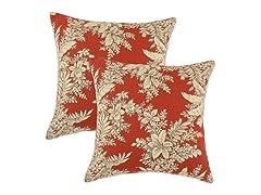 Bellingrath Tuscan 17x17 Pillow-Set of 2