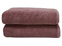 700GSM Soft Twist Bath Sheets-S/2-Plum